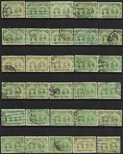 Rhodesia 1910 30 x 1/2d green Double Heads perf 14 mixed shades used'