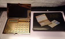 NOS Vintage 24K Gold Plated Credit Card Calculator and Case boxed.
