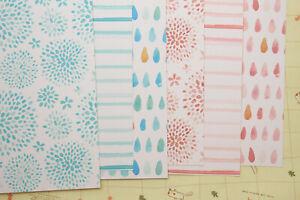 Spring Watercolor scrapbooking paper craft 250gsm floral raindrops cardstock