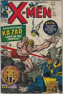 X-MEN 10 1963 SERIES UNCANNY RARE F+ KIRBY STAN LEE JACK KIRBY