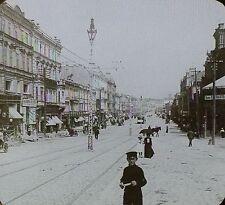 Principal Street of Kief, Russia, Vintage Magic Lantern Glass Slide