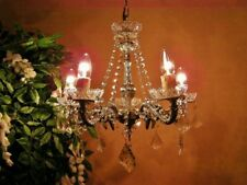 ABSOLUTELY ADORABLE~ Vint Chandelier Smothered in Crystal Garlands