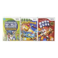 Nintendo Wii Video Game Lot Boom Blox FlingSmash Guinness World Records