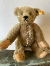 "Vintage Steiff Brown Mohair Teddy Bear fully jointed # 0155/26 Button & Tag 9"" L"