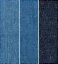Lightweight Washed 4oz Denim 100% Cotton Fabric Material 145cm Wide FREE P&P