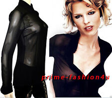 Dolce & Gabbana Black Color  100% Stretch  Silk Long Sleevs blouse Shirt