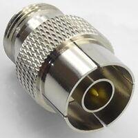 N Type Quick Release RF Adaptor, Push On, Push Fit, N Male Female Plug Socket