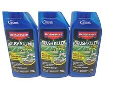 THREE (3) BioAdvanced 704640 BRUSH KILLER Plus 32-Oz Concentrate Kills Stumps