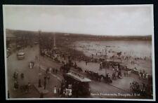 RPPC Isle of Man UK Postcard Early 1900s Rare Harris Promenade Douglas Trolley