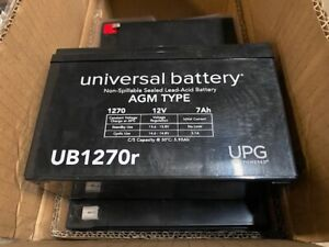 (4 Pack) UB1270r Universal replacement battery UPG  12v 7ah (NEW)