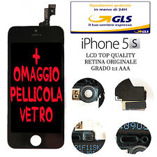 LCD COMPLETO PER APPLE IPHONE 5S NERO CON DISPLAY RETINA ORIGINALE FRAME