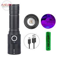 395nm UVC Flashlight Ultra-Violet Blacklight LED Inspection Zoom Lamp Torch Pet