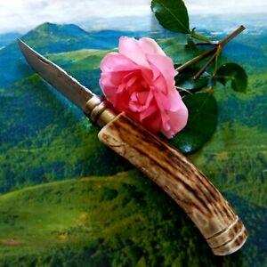 Superbe Couteau de poche Opinel N ° 8 Custom Bois De Çerf