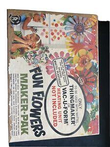 Vintage Mattel Thingmaker Fun Flowers Maker Pak