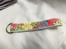 Key Chain- Peach With Flowers