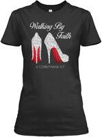 Machine washable Walking By Faith - Gildan Women's Gildan Women's Tee T-Shirt