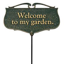 Welcome to My Garden Garden Poem Sign