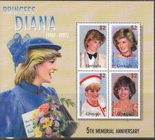 Grenada 2002 Memorial Anniv Diana  sheet MNH
