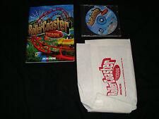 Roller Coaster Tycoon  (Windows, 1999) Original NEW w/ barf bag, instructions