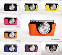 Genuine real Leather Half Camera Case bag cover for Fujifilm XF-1 XF1 10 colors