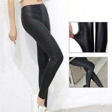 Faux Leather Leggings Women Leggins Thin Leggings Stretchy Leggins Sexy Push UpO