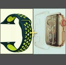 Apple Watch Bundle - Black & Green Strap W/ Screen protector (FREE POSTAGE)