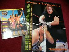 WWF WWE Magazine OCTOBER 1993 Steiner Brothers + Catalog + Undertaker Poster