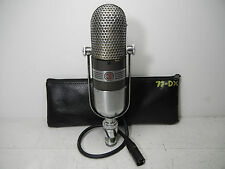 RCA 77D VINTAGE PROFESSIONAL STUDIO RIBBON MICROPHONE WITH POUCH LQQK #2!