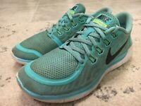 Nike Free 5.0 Size US 9 M (B) EU 40.5 Women's Running Shoes Aqua 724383-400 B8