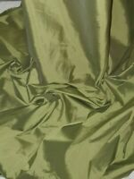 "Olive green  bridal taffeta  Fabric 58/""Wide Meter Fat Quarter Rolls"