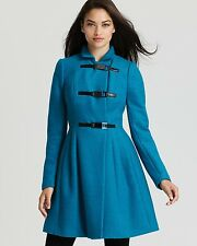 Plenty by Tracy Reese Coat Double Brest Size 2 Princess Skirted Turquoise, Teal