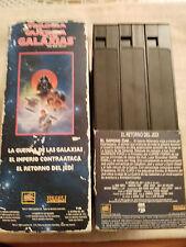 LA GUERRA DE LAS GALAXIAS STAR WARS TRILOGIA TRILOGY 3 X VHS TAPE THX LUCASFILM