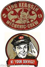 152 King Kérosène set Mechaniker crew autocollant pin up old school sticker us car v8