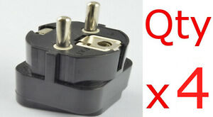 4pk USA US UK Canada to Germany German Outlet Plug Adapter Converter