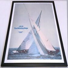 "EXTREMELY RARE ""The Winning Edge"", DIGITAL DEC LSI-11 America's Cup Race POSTER"