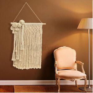 "40.9"" Bohemian Macrame Woven Wall Hanging Cotton Rope Handmade Tapestry Craft ☆"