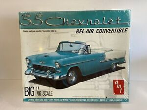 AMT/ERTL '55 Chevy Convt.  2 in 1 --1/16 Scale SEALED BOX NOS Scarce!