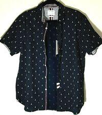 Poplin Cactus Man Nicky Singh Short Sleeve Shirt Mens Size L Nautical NWT