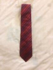Thomas Nash 100% Silk Black Red Multi Stripe 3.75in Wide Fit Men's Tie