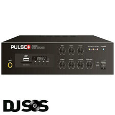 PULSE 40W 100V Line Compact PA Mixer Amplifier with MP3 Player & Bluetooth Audio