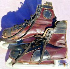 Vintage 1950s Canadian Flyer Torpedo Leather Ice Skates