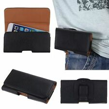 Universal Horizontal/ Vertical Leather Belt Clip Pouch Phone Cover Holster Case
