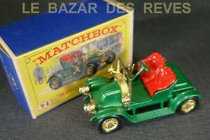 MATCHBOX. RENAULT 1911. REF: Y2. + Boite.