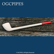 """NEW CLAY PIPE - 8"""" RED TIP #41"""