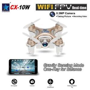 Original Drone Mini Cheerson CX-10W 4CH 6Axis Gyro Wifi FPV RTF RC Quadcopter