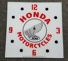 "*NEW* 15"" HONDA MOTORCYCLE RACING MOTOR OIL GLASS FACE PAM CLOCK"