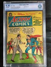 ACTION COMICS #194 CGC VF- 7.5; OW-W; Plastino cover; Congo Bill (7/54)!