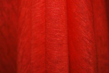 "100% Linen Jersey Knit Fabric By Yard Semi Sheer highend fabric 60"" W- DK Orange"