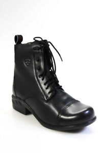 Ariat Womens Heritage RT Paddock Leather Boot Black Size 10 B