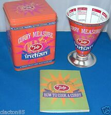 TALA RETRO VINTAGE INDIAN THALI CURRY COOKS MEASURE STORAGE TIN  & RECIPE BOOK
